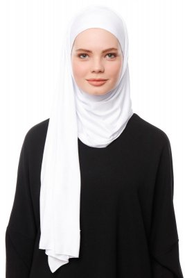 Asya - Hijab Pratique Viscose Blanc
