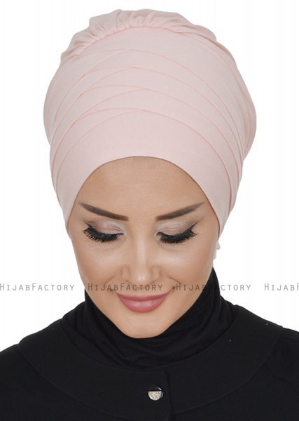 Monica - Turban En Coton Vieux Rose - Ayse Turban