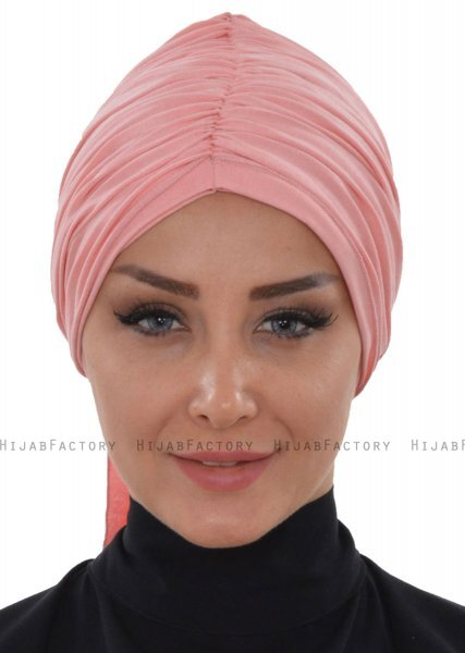Amy - Turban En Coton Vieux Rose - Ayse Turban