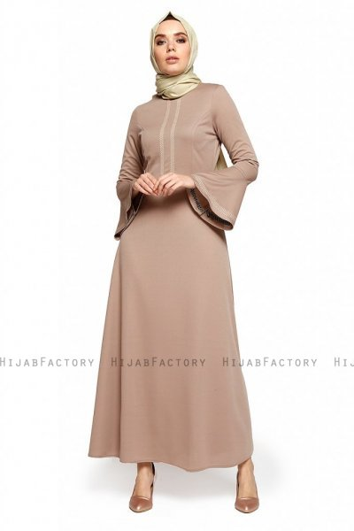 Deste - Robe Taupe - Miss Halima