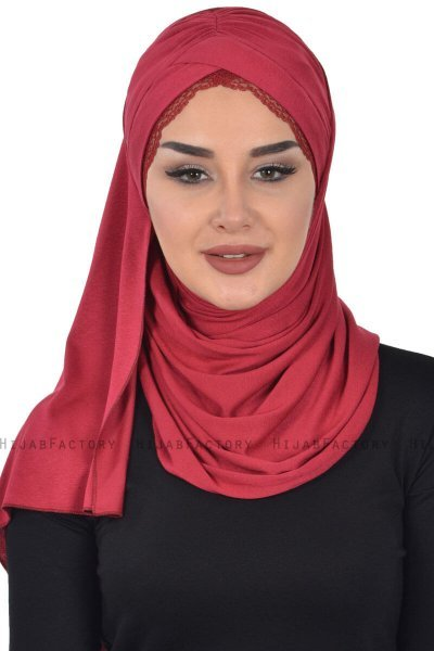 Filippa - Hijab Coton Pratique Bordeaux - Ayse Turban